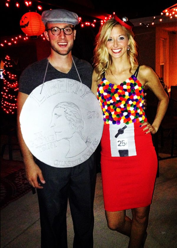 DIY Gumball Machine Costume | Your Couple Costume Idea for Halloween, Mardi Gras and Carnival