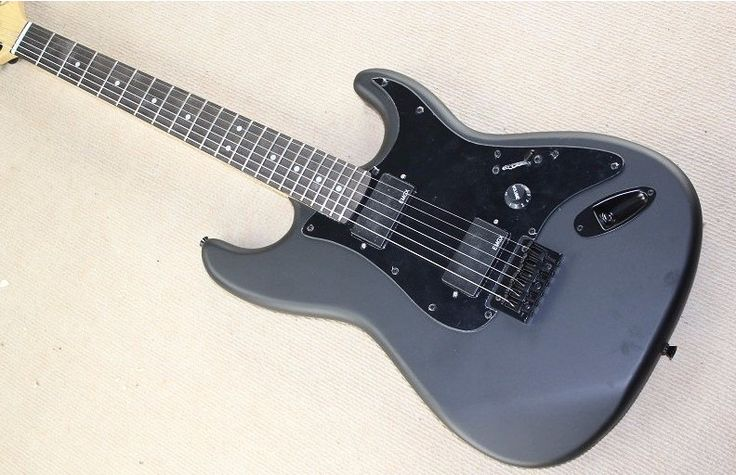 Top quality New Arrival St Matte. black Electric Guitar. free shipping