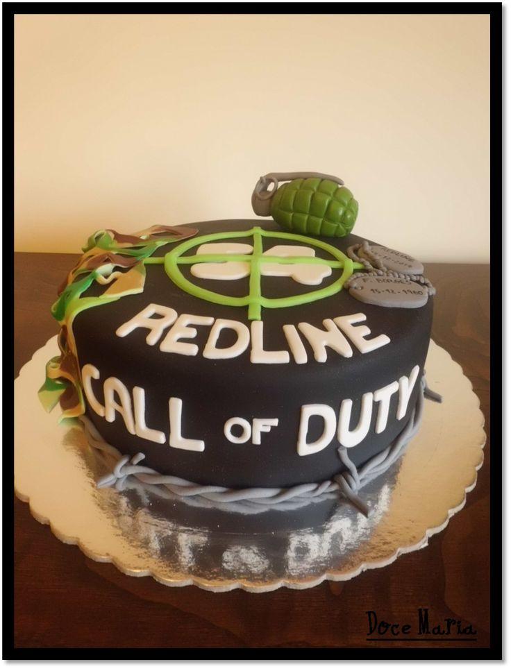 Call Of Duty Cake Design