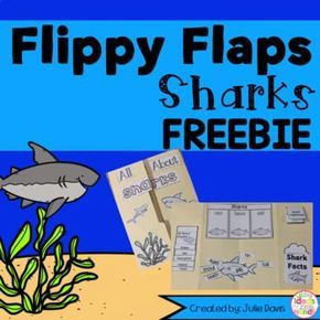 Sharks Flippy Flaps!  This is a FREEBIE from a larger set. If you would like to check out the full Ocean Animal pack below Ocean Animal Flippy Flap  This is a great way to get your students learning about Sharks in a fun hands-on interactive way! Your students will be engaged and learn about sharks in many different ways!  Activities included:  - All About Sharks - Label the Shark - Sharks can/have/eat - Shark Adjectives - Sharks KWL - If I was a Shark, I would... Writing Prompt - Compare…