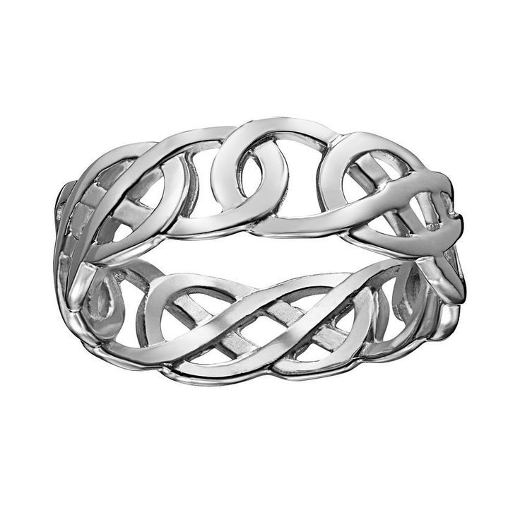 Sterling Silver Celtic Knot Ring, Women's, Size: 11, White