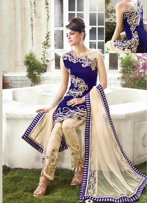 Magnificient Royal Blue Salwar Kameez