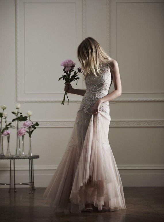 Embellished Embroidered Tulle Gown, £400, Needle & Thread. #needleandthreadembellishedembroideredtullegown #afforableweddingdresses