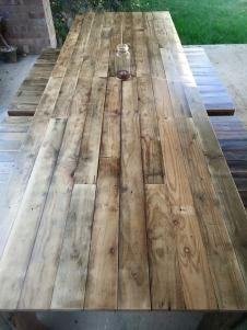 Rustic Murray Pine Flooring Dining Table