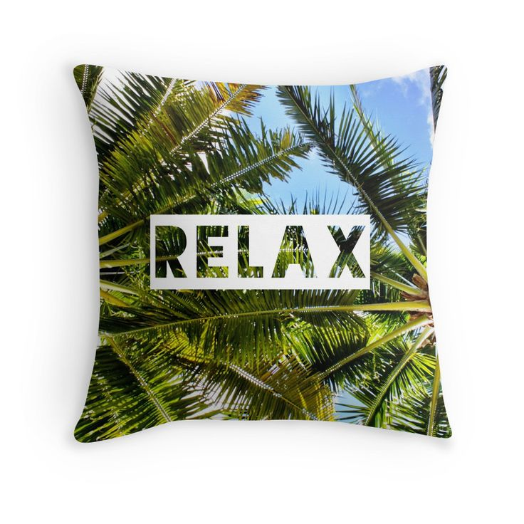 Relax throw pillow, home decor, travel gifts