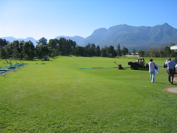 Fancourt with the Drakensberg Mnts behind