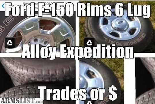 ARMSLIST - For Sale/Trade: Ford Expedition 6 lug 17 inch Rims, This is the set to have, bright finish Aluminum Wheels. Tipp City, Ohio.