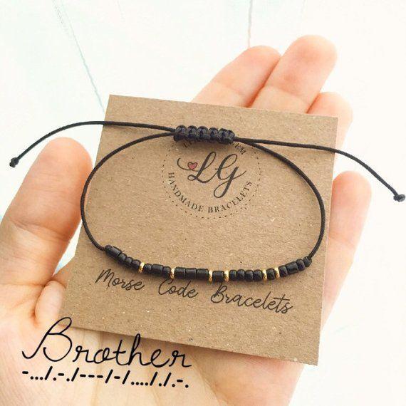 Morse code bracelet BE HAPPY or custom bracelet Men/'s black bracelet Friendship bracelet Best wishes bracelet Best friends bracelet