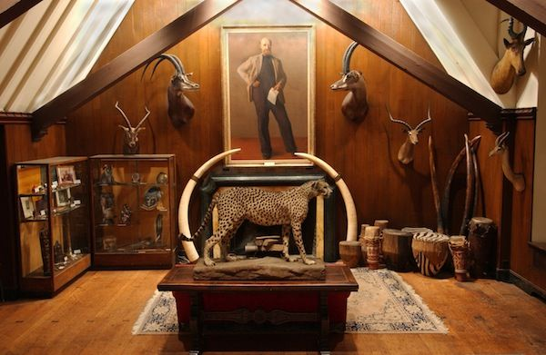 The Explorers Club trophy room. So amazing!