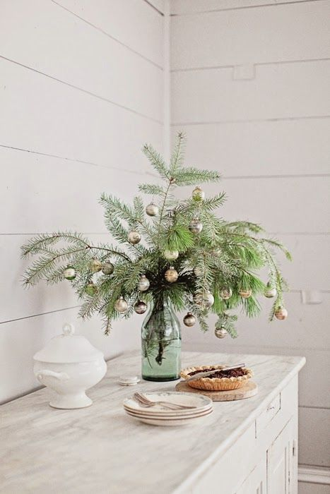 French Farmhouse Christmas Collection 2014 U0026 Wintersteen Farms Wreath  Giveaway. Christmas BranchesSmall Christmas TreesWhite ...