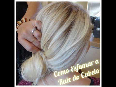 MECHAS ESFUMADAS EM CASA - RETOQUE DE RAIZ | Amanda Domenico - YouTube