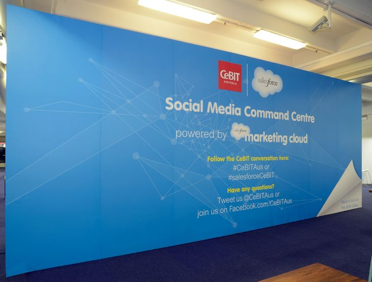 Salesforce Media Command Centre @ CeBIT