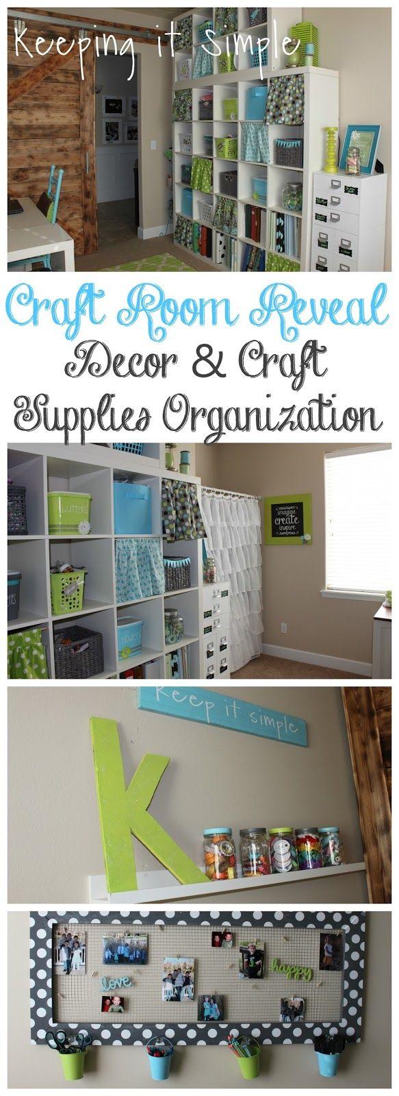 Craft supplies organization ideas - Craft Room Decor Ideas And Craft Supplies Organization