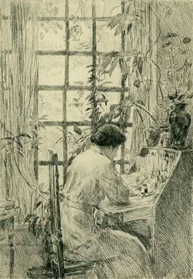 "Childe Hassam, ""The Writing Desk,"" 1915: Dining Rooms, Writing Desks, Frederick Child, Art Drawings, 1915, Artists Depict, Holley Houses, Child Hassam, Hassam 1859 1935"