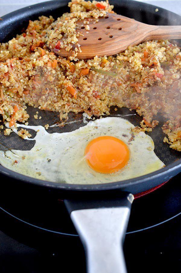 17 best images about cenas divinas on pinterest easy recipes read esta receta de quinoa esta realmente deliciosa y hars que te olvides del arroz salteado forumfinder Choice Image