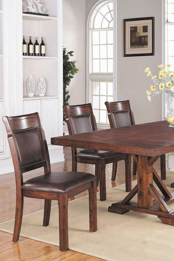 Impress Your Guests For Less With The Latest Styles In Dining Room Furniture Décor And More At American Fur Furniture Dining Room Furniture Brown Dining Room