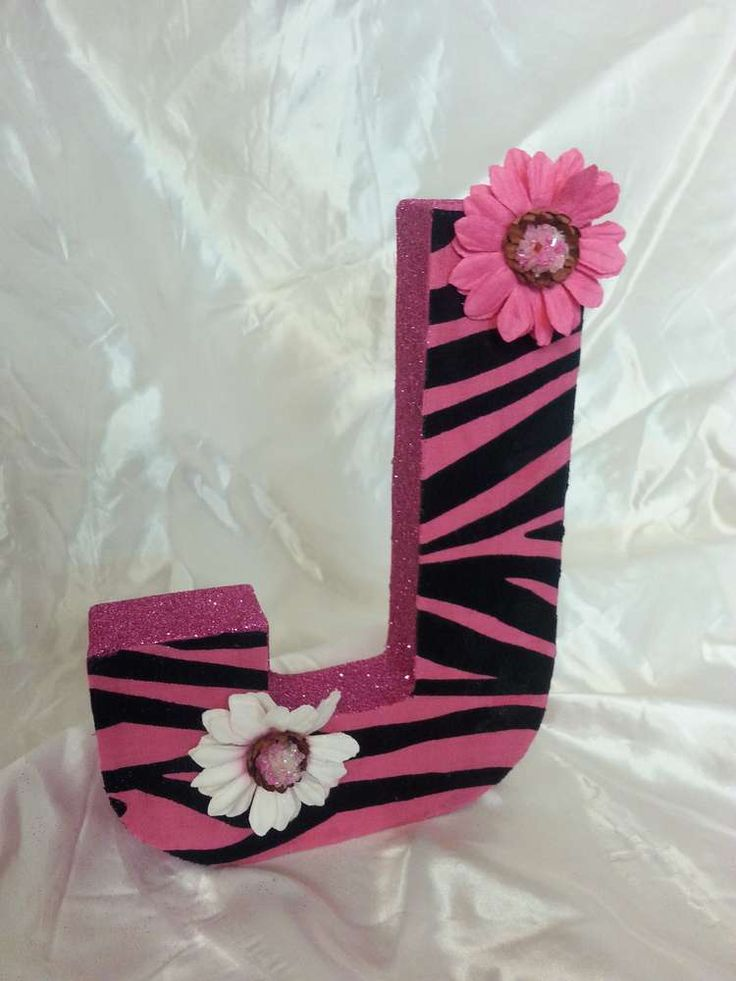 Pink & Zebra Sweet 16 Birthday Party letter decoration! See more party planning ideas at CatchMyParty.com!