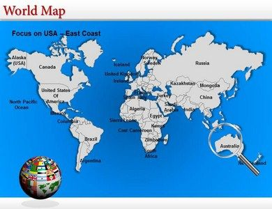 Mejores 19 imgenes de map templates en pinterest plantillas these world map powerpoint templates provide the entire overview of the world demography one can gumiabroncs Image collections