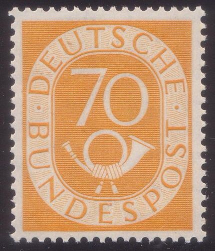 GERMANY-1951-Posthorn-70-pf-MNH-Mi-136-Sc-683
