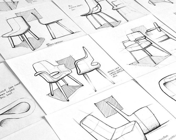 """""""Get Inspired! #designinspiration #sketchinginspiration #create  Sketches by designer Paulin Giret @paulin_giret  Also features as our Sketch of the Day…"""""""