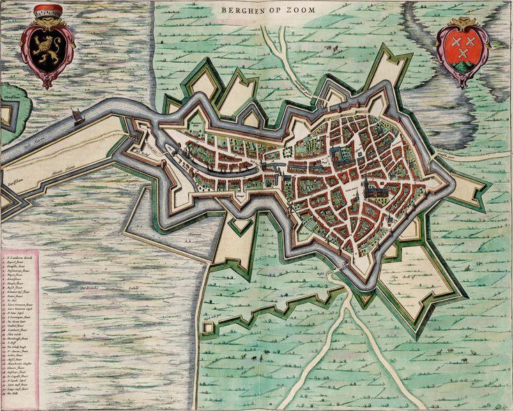 Map of Bergen op Zoom, 1649. Atlas van Loon. Blaeu