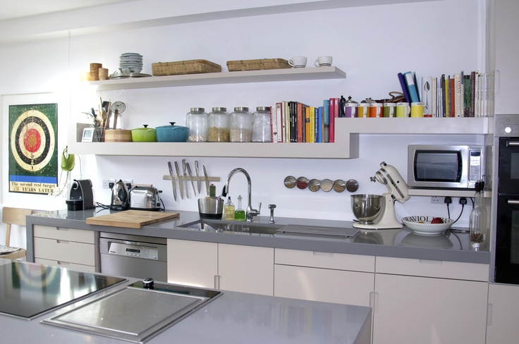 Love The Long Open Shelving In This Kitchen.