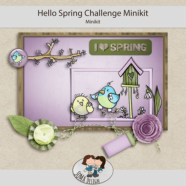 Oscraps.com :: Shop by Category :: All New :: SoMa Design: Hello Spring Challenge Minikit