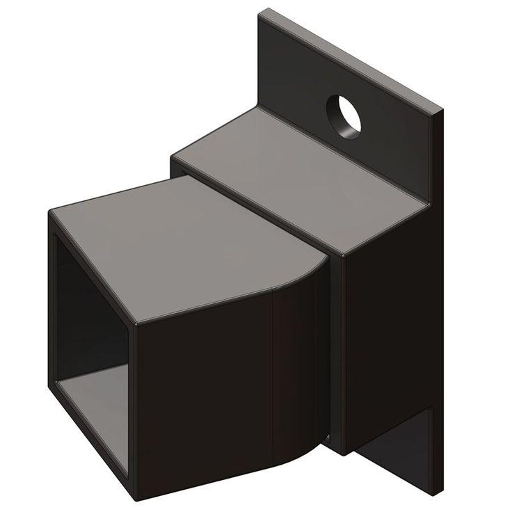 Ironcraft 3-Pack Black/Powder-Coated Metal Aluminum Fence Swivel Brackets