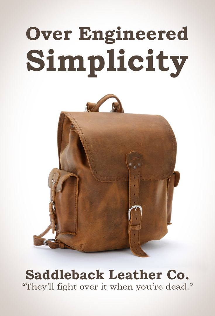 Saddleback Leather Simple Backpack In Tobacco 100 Year
