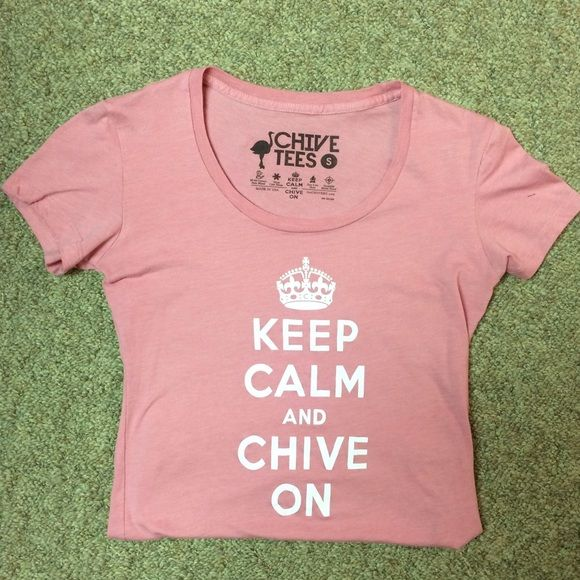 Chive Shirt Keep Calm Chive On tee Chive Tops Tees - Short Sleeve