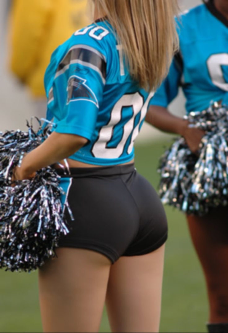 Sexy college cheerleaders butts