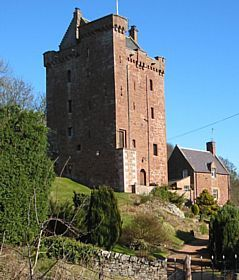 Kinnaird - Kinnaird Castle is a 15th century fortalice, the original seat of the family of that name. © Jack Blair