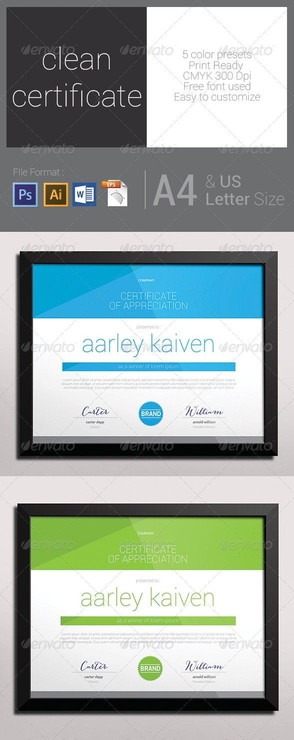 Certificate format 25 pinterest 70 diploma and certificate templates in psd word vector eps formats yelopaper Gallery