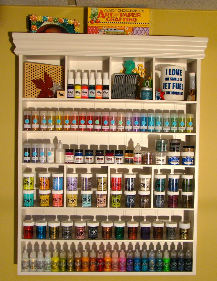 Beautiful idea for embossing powder and glitter storage! Storage - Scrapbook.com