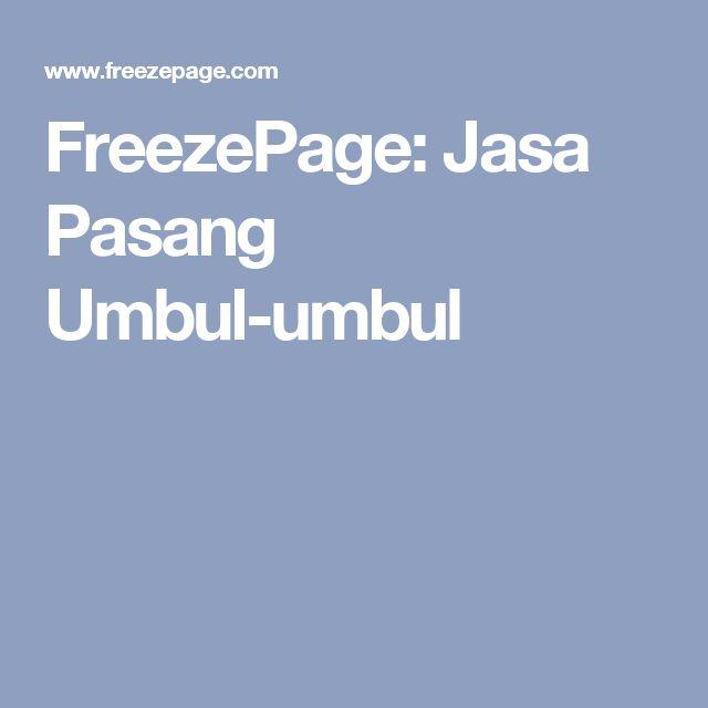 FreezePage: Jasa Pasang Umbul-umbul