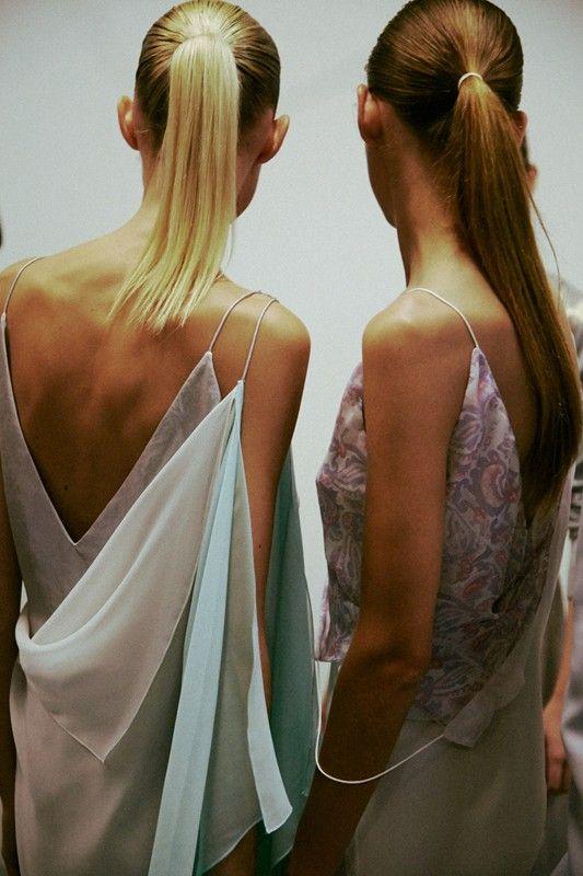 Fairytale drapes at Richard Nicoll SS15 LFW. More images here: http://www.dazeddigital.com/fashion/article/21688/1/richard-nicoll-ss15