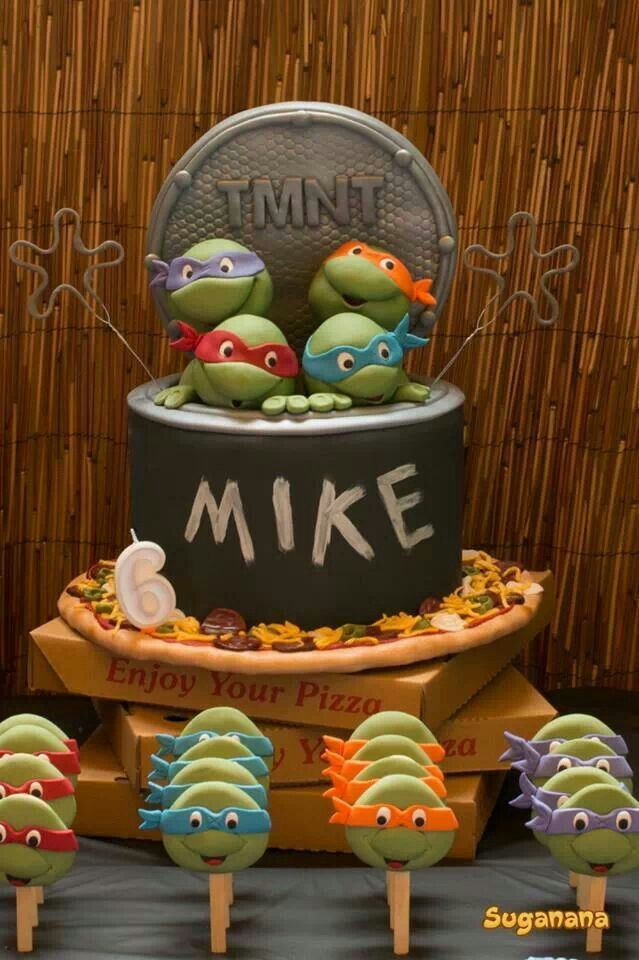 Tortues Ninja / Teenage Mutant Ninja Turtle cake  Gâteaux / Cakes ...