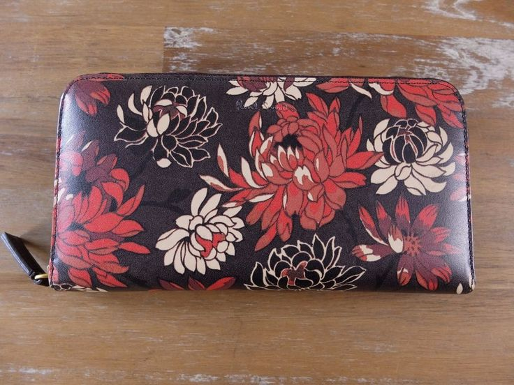 auth PAUL SMITH leather floral zip-around continental wallet purse - New in Box | Clothing, Shoes & Accessories, Women's Accessories, Wallets | eBay!