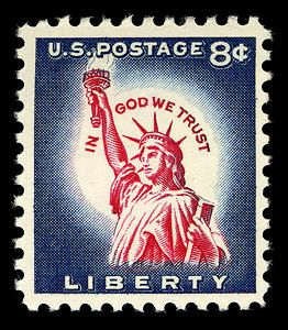 8c Statue of Liberty single
