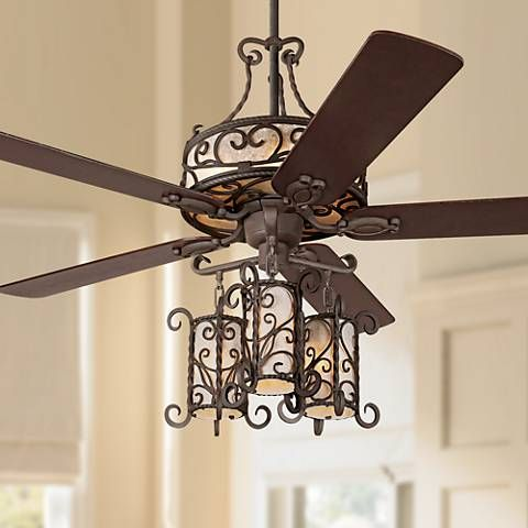 """60"""" John Timberland® Seville Iron Ceiling Fan With Remote"""
