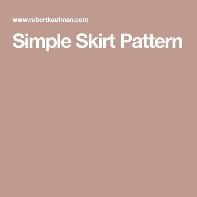Simple Skirt Pattern