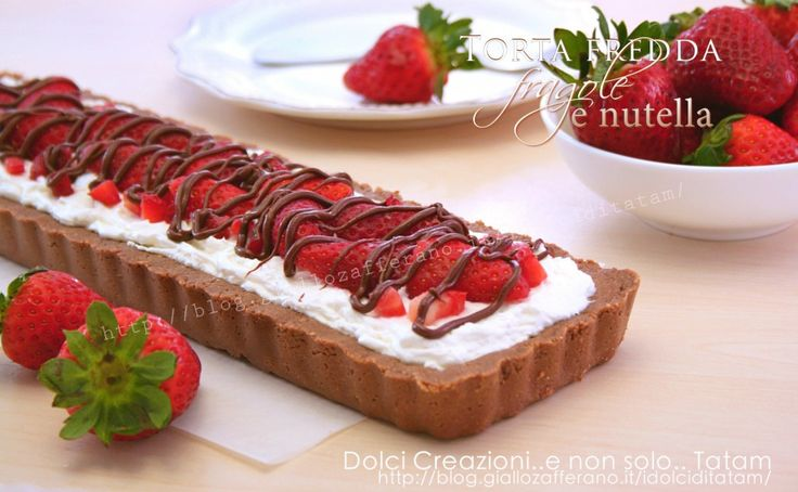 Torta fredda con fragole e nutella 1