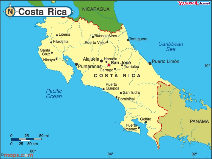 Best Honeymoon In Caribbean Costa Rica Images On Pinterest - Us map of costa rica