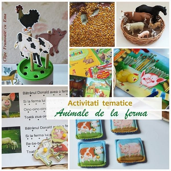Activitati tematice: Animale de la ferma - Clipe Frumoase cu Ema