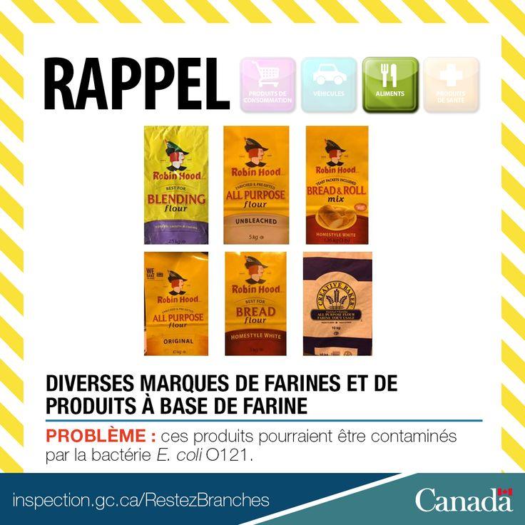 ❗ Mise à jour d'un #RappelACIA - Plusieurs marques de farine sont rappelées en raison de la bactérie E.coli. Comparez la taille du sac de farine, les dates meilleur avant et les codes barres avec la liste en ligne http://owl.li/OMKm30aXfOx