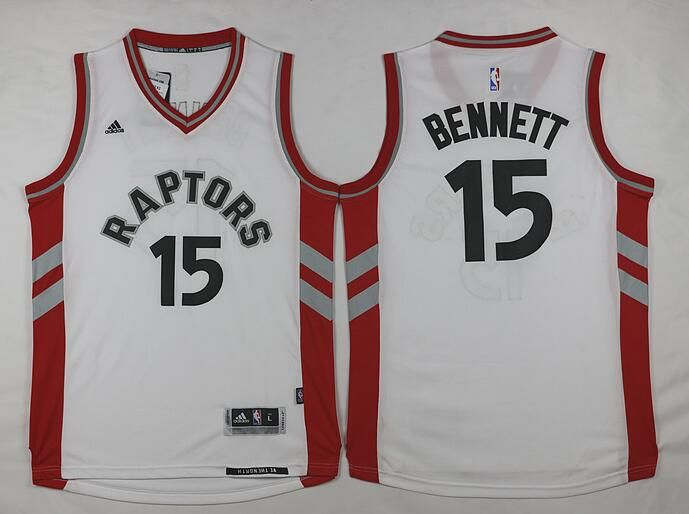 Men's Toronto Raptors #15 Anthony Bennett Revolution 30 Swingman 2014 New White Jersey