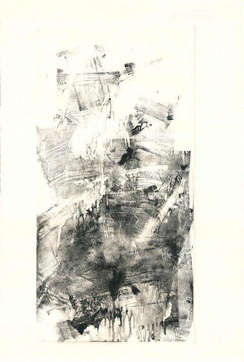 Monotipo en tinta sobre papel
