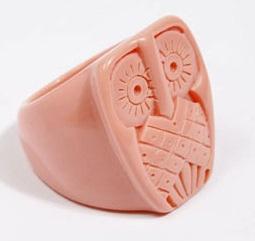 peach owl ring