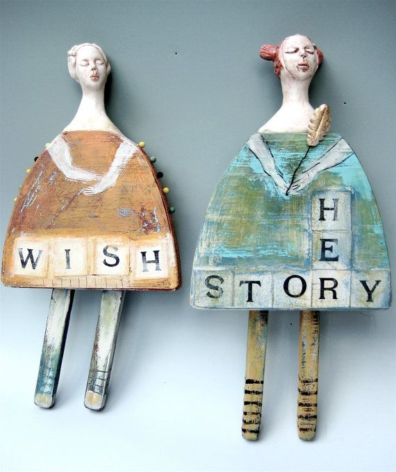 Yes. Wishing is my story.   wall storytellers by lbalombini on Etsy