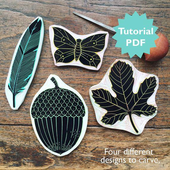 Rubber Carving Tutorial with four different par ViktoriaAstrom